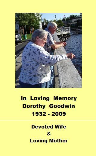 In Loving Memory: Dorothy Goodwin: 1932-2009